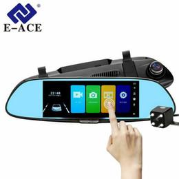 Dvr detector radar espelho retrovisor on-line-Carro DVR Full HD 1080 P 7,0 Polegada IPS Touch Gravador de Vídeo Camera Auto Registrator