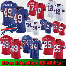 Lesean mccoy jersey di calcio online-Maglie Buffalo 17 Josh Allen 49 Tremaine Edmunds Bills 12 Jim Kelly 21 Poyer LeSean 25 Thomas 34 Thomas McCoy 95 Kyle Williams Dareus