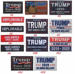 2019 insignias de la tapa Bordado Trump cap Parche Brazalete Hacer América Gran Otra vez Insignia Gancho Táctico Parches Militar Brassard Combate Favor del Partido 4718 rebajas insignias de la tapa