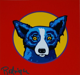 George Rodrigue Blue Dog Bullseye Home Decor Artisanats / HD huile d'impression Peinture Sur Toile Art mur toile Photos 200115 ? partir de fabricateur