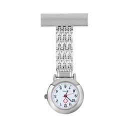 Enfermera Reloj de bolsillo Números árabes de acero inoxidable Broche de cuarzo Médico Enfermera Reloj de bolsillo Fob desde fabricantes