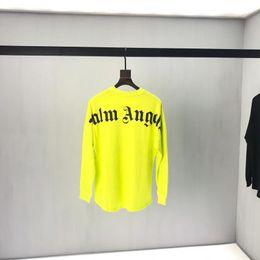 Camisetas de manga larga, hombres y mujeres sueltos, camiseta de algodón, cuello redondo, impresión de letras, chaqueta de estudiante juvenil simple 2019 nueva desde fabricantes