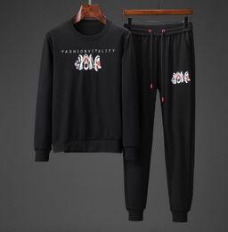 styles de vêtements hommes noirs Promotion MensBrand Survêtements Jogger Hommes Marque Pantalon Noir Styles J Deux Pièces Manches Longues Pantalon Lettre De Mode Street Vêtements Asie Taille M-3xl N04