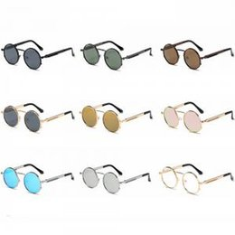 occhiali da sole rotondi steampunk Sconti Classic Steam Punk Goggles Occhiali da sole Fashion Unisex Brand Designer Round Vintage Steampunk Goggle Metal Retro Eyewear LJJT272