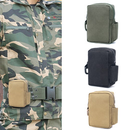 Casi di walkie talkie online-Tattico Molle Walkie-talkie Pouch citofono Storage Bag di nylon esterna Radio Custodia per Use Case Walkie-Talkie Holder