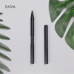 Single Elastic Lip Brush for Travel Metal Handle Synthetic Hair  Lip Stick Gloss  Brush Tool Pencil cheap makeup hair stick от Поставщики макияж палочка для волос