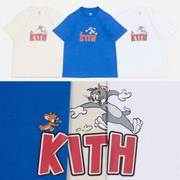 2019 t mouse 19SS Kith X Tom Jerry Tee Cat e Mouse Cartoon stampato uomo donna T-Shirt semplice estate manica corta Street Skateboard Tee HFYMTX567