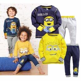 Mutter & Kinder Pyjama-garnituren Kinder Pyjamas Sets Jungen Cartoon Print Nacht Anzug Kinder Volle Hülse Nachtwäsche Mädchen Weiche Pyjamas Kinder Baumwolle Nachtwäsche D0092