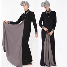 silk islamic Promo Codes - Splice Abaya Kaftan Hijab Muslim Dress Ramadan Turkey Dubai Women Caftan Marocain Arab Turkish Tesettur Elbise Islamic Clothing