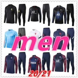 Designer trainingsanzüge männer online-juventus psg real madrid fc barcelona france Atletico Madrid 2020 2021 mens designer tracksuits soccer tracksuit football training suit jacket