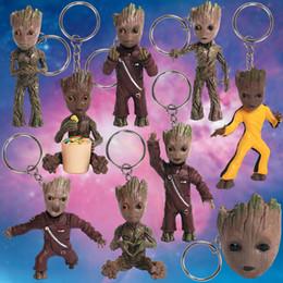 8 Styles Baby Tree Man Toy Doll Grootted Portachiavi Action Figure Film Movie 4 Guardiani della Galassia Regali per bambini da