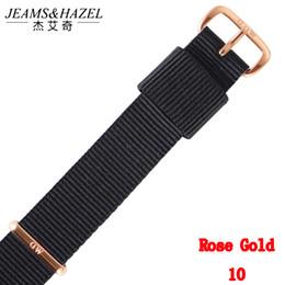 2019 dw relógio pulseira de nylon Top marca de qualidade 18 mm 20 mm nylon rose gold silver amantes homens mulheres dw watch strap para daniel wellington watchband para presente dw relógio pulseira de nylon barato