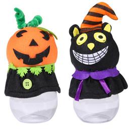 fantasmas de plastico Rebajas Las latas de dulces de Halloween de dibujos animados de plástico Nueva Decoración fuentes de los niños Recuerdos Ghost Festival Atmósfera 17 * 7cm Partido Puntales pumpki