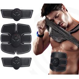 2019 ceinture de perte de poids électrique Stimulateur musculaire sans fil Smart Fitness Appareil d'entraînement abdominal Autocollants de perte de poids électrique corps amincissant la ceinture LJJZ507 ceinture de perte de poids électrique pas cher