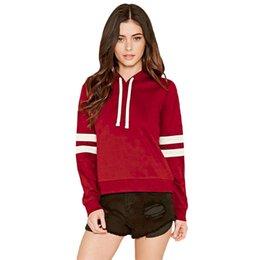 4ad2a740e2ec Woman Hoodies New Pattern Arm Double Cross Bar Printing Self-cultivation Long  Sleeve Pulling Rope Midnight Cotton Sudaderas Sweatshirt