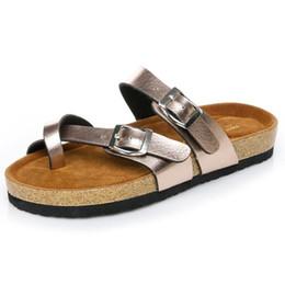 Deutschland Männliche Flache Sandalen Damenmode Sommer Strände Beiläufige Weiße Schuhe Schnalle Hochwertige Echtleder Hausschuhe Versorgung