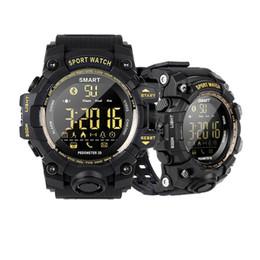 Erba illuminata online-Sport EX16S Smart Watch Camouflage Band Wristband Impermeabile Long Standby Time Luce luminosa Passi sveglia Cronometro