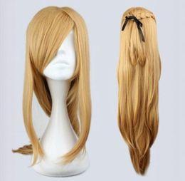 Argentina WIG LL HOT Envío gratis Fashion Master Sword Art en línea Asuna Yuuki Clásico Cosplay dorado WiG supplier classical wigs Suministro