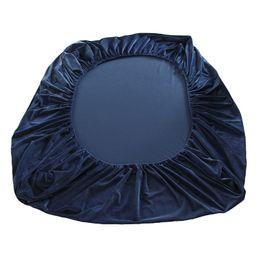 2020 lavendelblau bettwäsche Samt warme Flanell Fleece 25cm Höhe Twin / Full / Queen / King Size Spannbetttuch Bett einfarbig grau rosa blau grün orange lila günstig lavendelblau bettwäsche