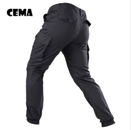 Pantalon ix9 en Ligne-IX9 Men City Tactical Pants Pantalons cargo multi-poches Couleur verte Combat Coton Pantalon SWAT Army Pantalon simple
