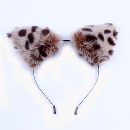 anime zorro de peluche Rebajas Dibujos animados coreanos Cosplay Anime Show diadema felpa gato leopardo orejas de zorro Fascinator mujeres lindas mujeres Fanshion accesorios para el cabello C19021601