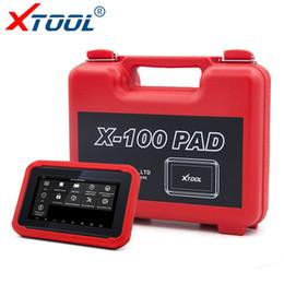 Programador de milhagem obd2 on-line-XTOOL X100 PAD Auto Programador Chave para Carros OBD2 Scanner DPF BMS Acelerador de Reset Ferramenta de Verificação de Diagnóstico Do Carro Ferramenta de Correção de Quilometragem