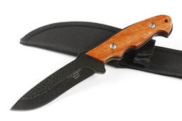 lâminas forjadas Desconto Forjada pequena faca reta 4.3 polegadas lâmina fixa faca tático auto defesa edc coleção facas de caça presente de natal 05245