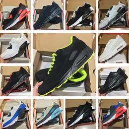 buy online 4275a ffeb0 Nike Air Max 90 Classique 90 90 S Hommes Chaussures De Course Infrarouge  Patch Triple Noir Blanc Laser Rose Oreo Respirant Formateur Femmes Sports  En Plein ...