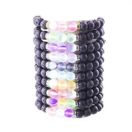 bracelet de charme parfum Promotion 8MM Lava Stone Perles Bracelet Parfum Huile Essentielle Diffuseur Charmes Réglable Bracelet Accessoires Bijoux Femmes