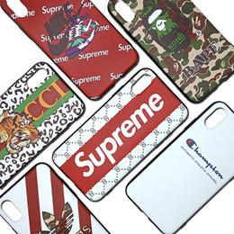 imitazione iphone casi all'ingrosso Sconti Per la cassa del telefono di Iphone Xr Xs Max Case Luxury Branding in rilievo 6 7 8 X Plus Ape Champion Custodia morbida per telefono cellulare TPU