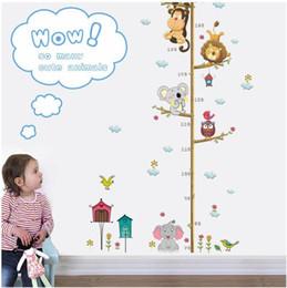 Yükseklik grafik Karikatür Hayvanlar Aslan Maymun Baykuş Fil Yükseklik Tedbir Duvar Sticker Çocuk Odaları Için Büyüme Tablosu Kreş Odası Dekor Duvar Sanatı cheap owl nursery room sticker decor nereden baykuş kreş oda çıkartması dekor tedarikçiler