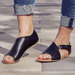 3401e304 Zapatos de cuero de la PU de las mujeres Plataforma cómoda Suela Plana  Damas Casual Suave Punta del pie Corrección de la sandalia Ortopédica  Coronador del ...