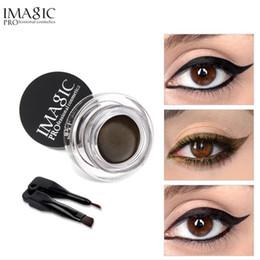 Liner eyeliner gel online-IMAGIC Gel Eyeliner Not Blooming Makeup Palette Matte Impermeabile Lasting Eye Liner Gel Cream con pennello
