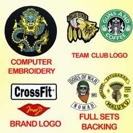 Logotipo do patch on-line-patches de bordado personalizado iron-on gancho de apoio com o seu próprio logotipo personalizado logotipo da equipe do clube da escola