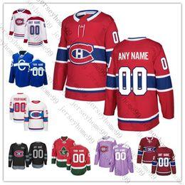 montreal canadiens jersey xl Rabatt Gewohnheit Montreal Canadiens Jersey Carey Preis Jesperi Kotkaniemi Max Domi Brendan Gallagher Shea Weber Tomas Tatar Hockey Jersey