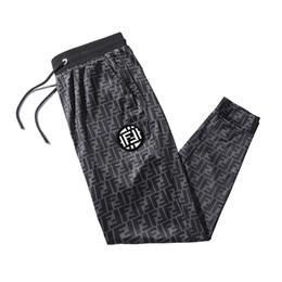 2019 pantalones de entrepierna masculina Pantalones deportivos para hombres Pantalones largos de marca Pantalones deportivos transpirables Pantalones deportivos simples ocasionales Pantalones de marca de diseñador Pantalones largos para hombres Talla asiática