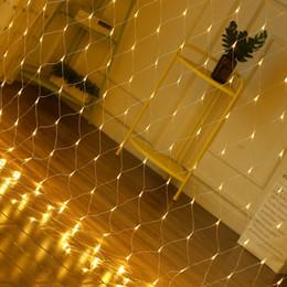 reti di albero Sconti 3Mx3M 400 LED Fata String Xmas Tree Mesh Cortina di Soffitto per la casa Finestra Wall Net Light Festival Decorazione di festa di Natale 110-220 V Spina DEGLI STATI UNITI