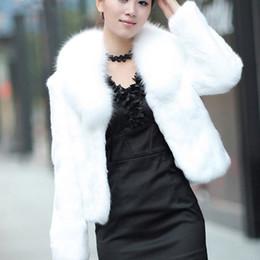2019 casaco curto da luva da pele do falso Elegante Curto Faux Fur Coat Mulheres Engrossar Quente Casaco De Peles De Inverno Feminino de Manga Comprida Turn Down Collar Sobrancelha Peludo 3XL Q1600 casaco curto da luva da pele do falso barato