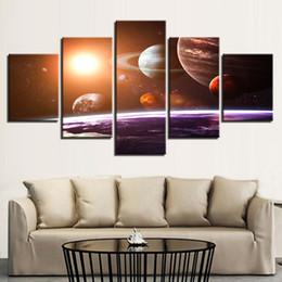 Toile Mur Art Photos Décor À La Maison 5 Pièces Univers Espace Cinq Planètes Peintures Salon Impressions Abstrait Affiche Cadre ? partir de fabricateur