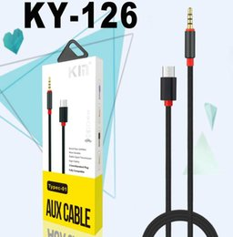 2019 tipos de cables auxiliares Tipo de cable de audio: c converge a 3.5 mm de metal Cable de audio Cable de auriculares de audio para automóvil para samsug s8 lg g5 tipos de cables auxiliares baratos