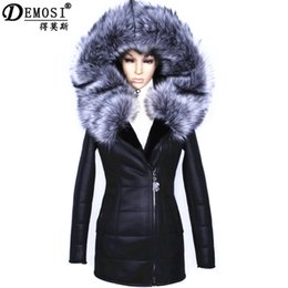 женщины с капюшоном из искусственной кожи Скидка Factory direct supplier winter 2017 new women fur coat  fashion Diamonds Leather belt suede Faux thicker female Hooded Jacket