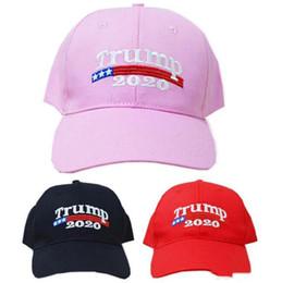 gorro de lana tejido a mano Rebajas Trump bordado 2020 gorras de béisbol gorra de béisbol Make América grande Una vez más, Donald Trump sombreros reelección adultos se divierte el sombrero gorra de béisbol