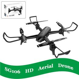 4K SG106 RC zánganos con la cámara hd helicóptero juguetes de aviones no tripulados Quadcopter flujo óptico Altitud Hold Helikopter autofoto control remoto QuadCopter desde fabricantes