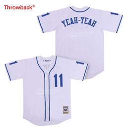 Джерси Throwback Мужские трикотажные изделия бейсбола фильма Sandlot 11 Трикотажи Да-даа Белая рубашка Сшитые Размер S-3XL Wholesa от