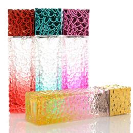 Kosmetikspray verpackung online-Fahion 50 ml Sprühflasche quadratische Glaskosmetikverpackung Travel tragbare Unterflasche nachfüllbare Duftstoff Feine Nebel-Sprüher Atomize Pump