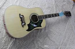 frete grátis guitarra elétrica sólida Desconto Frete grátis + pomba dreadnought acústico guitarra natural spruce guitarra elétrica