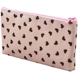 Estuche rígido bolsa de cosméticos online-Bolsa de cosméticos Sweet Heart Bolsa de maquillaje Estuche rígido - Rosa