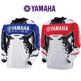Maglia blu motocross online-T-shirt a maniche lunghe T-shirt YAMAHA Motocross da corsa Tuta da uomo rossa blu T-Shirt Profess Multi Taglie 40xc D1