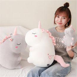 2019 bambole di massaggio 20170630 Vendite calde piumini di peluche farciti di peluche 25 cm 38 cm 55 cm Unicorn Massage Doll Peluche Shopping gratuito sconti bambole di massaggio
