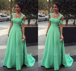 Épaule froide menthe vert formelle robes de soirée élégante gaine de satin pas cher robe de bal 2019 robes de soirée occasion spéciale robe femmes ? partir de fabricateur